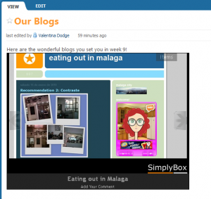 Embed widget for your wiki- plays as slide show